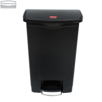 Kosz Slim Jim® Step-On 50L Resin Containers black