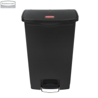 Kosz Slim Jim® Step-On 68L Resin Containers black