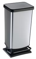 Kosz na śmieci PASO 40L srebrny