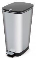 Kosz na śmieci CHIC-BIN 50L srebrny