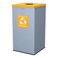 Kosz do segregacji odpadów EKO SQUARE 90L plastik i metal