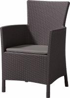 Krzesło ogrodowe rattanowe MONTANA brąz/c.popiel