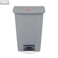 Kosz Slim Jim® Step-On 50L Resin Containers grey
