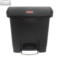 Kosz Slim Jim® Step-On 15L Resin Containers black