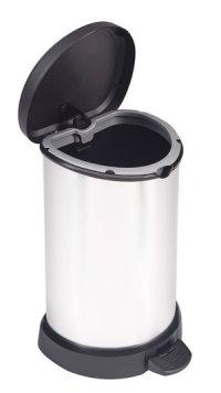 Kosz na śmieci Deco Bin 20L srebrny z ramką