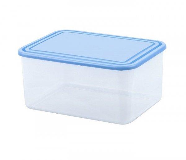 Pojemnik do przechowywania żywności prostokątny 3L niebieski