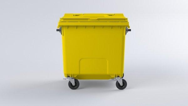 Pojemnik na odpady1100L z pokrywą żółty