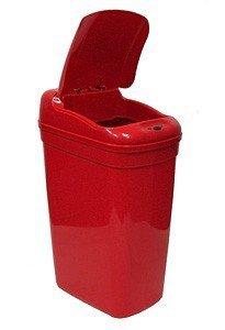 Bezdotykowy kosz na odpady medyczne 27L prostokątny czerwony