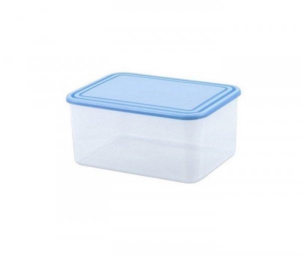 Pojemnik do przechowywania żywności prostokątny 0,8L niebieski