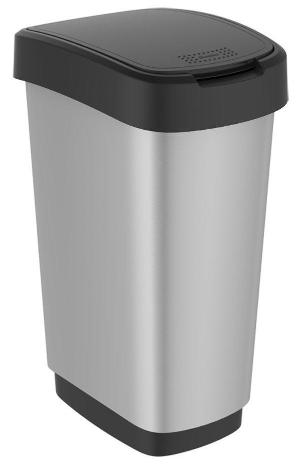 Kosz na śmieci TWIST 25L srebrny metalizowany