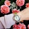 Zegarek ze srebra z bursztynem kod 438