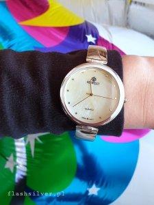 Zegarek ze srebra kod 873 złoto-perłowa tarcza