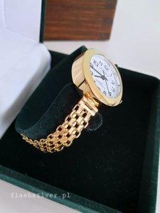 Złocony zegarek ze srebra 925 kod 5010