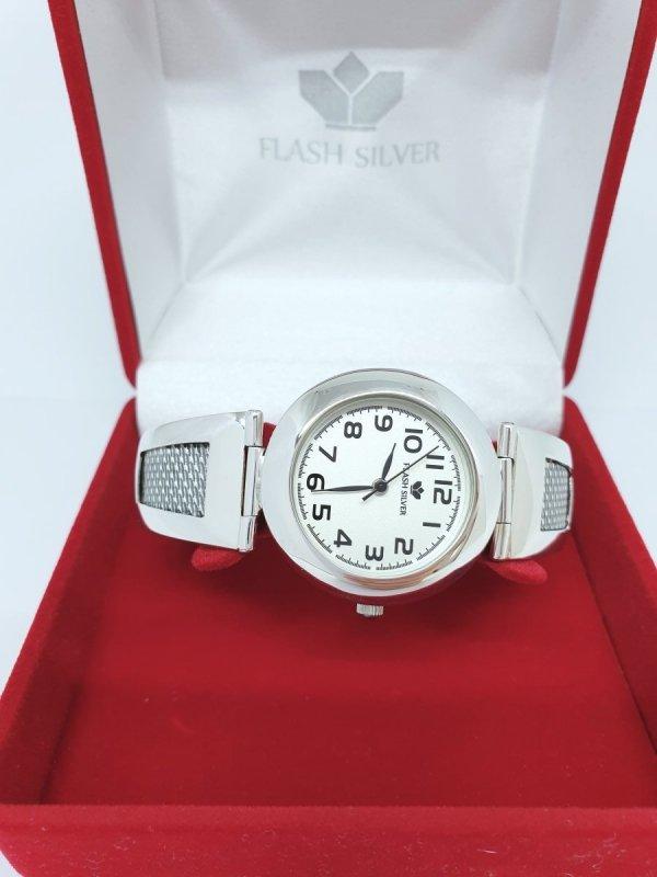Srebrny zdobiony zegarek kod 910
