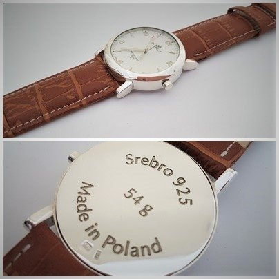 Zegarek ze srebra Męski kod 706