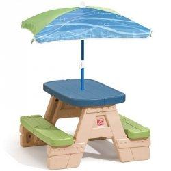 Step2 Stół Piknikowy z Parasolką dla Dzieci