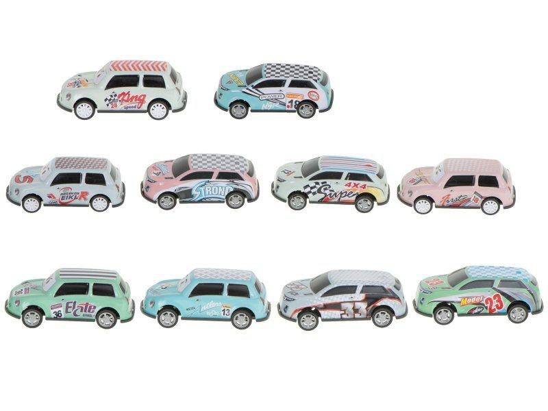 Zestaw metalowych samochodzików pojazdy 10szt.