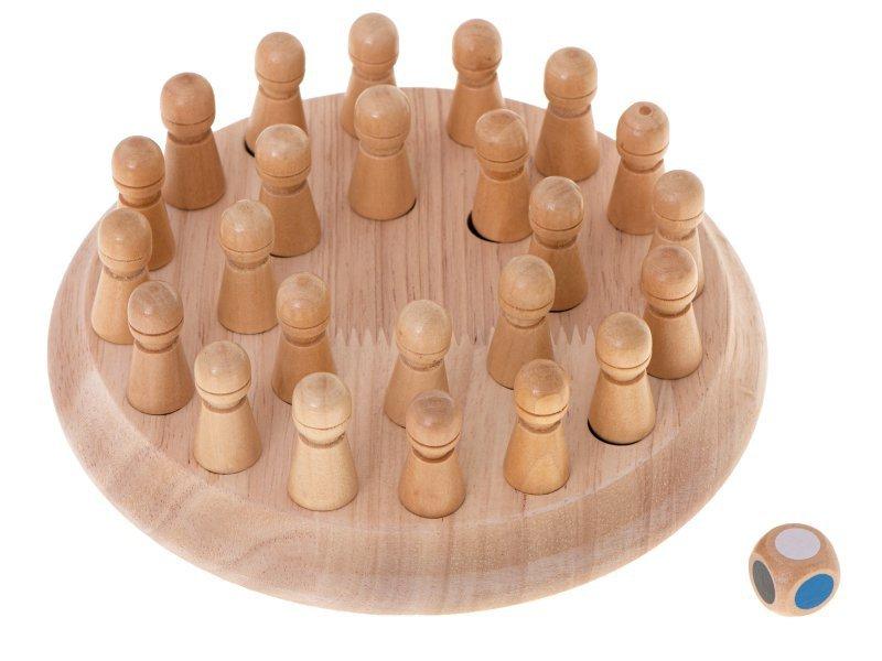 Gra logiczna memory chińczyk dopasuj kolory drewniana