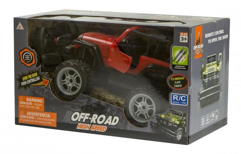 Samochód RC Off-Road Jeep 1:14 czerwony