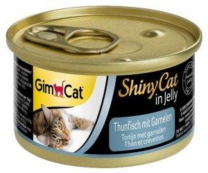 Gimcat Shiny Cat puszka dla kota z tuńczykiem i krewetkami 70g