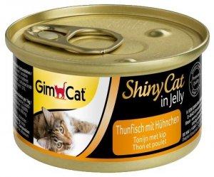 Gimcat Shiny Cat puszka dla kota z tuńczykiem i kurczakiem 70g