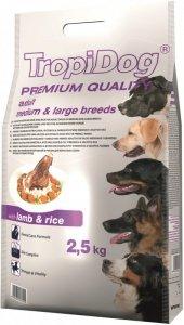 Tropidog Premium Adult Medium & Large Breeds- Jagnięcina z Ryżem 2,5kg