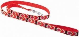 Chaba Smycz Taśma indiańska standard 10x1300 czerwona