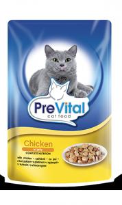 PreVital saszetka dla kota 100g Kurczak galaretka