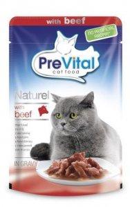 PreVital saszetka 85g Naturel wołowina sos