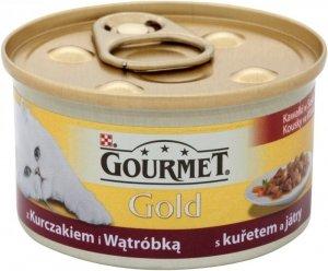 Gourmet Gold karma z kurczakiem i  wątrobką 85 gram