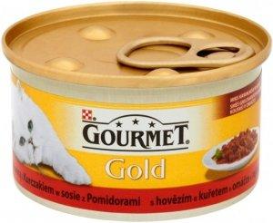 Gourmet Gold Duot karma z Wołowiną, Kurą i Pomidorami 85 gram