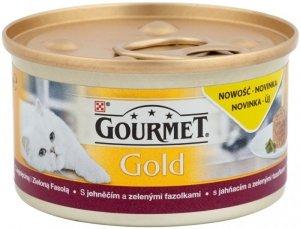 Gourmet Gold karma dla kota z Jagnięciną i Zielona fasolą 85 gram