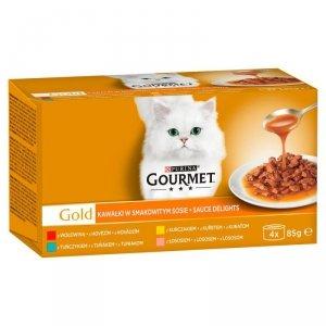 Gourmet Gold karma dla kotów z mięsnymi kawałkami w kremowym sosie 4x85 gram