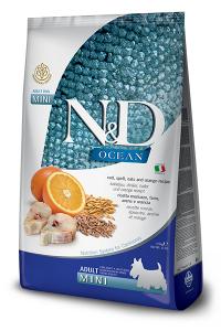 ND Dog Ocean Adult Mini 2,5kg Codfish spelt orange