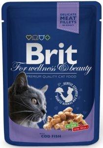 Brit Premium Cat 100g Dorsz sos saszetka