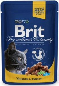 Brit Premium Cat 100g Kurczak Indyk saszetka