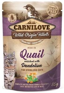 Carnilove Cat Pouch Sterilised Quail Dend 85g