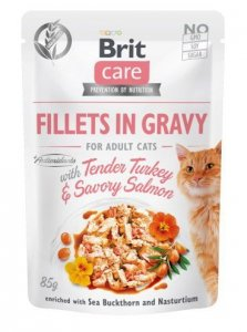 Brit Care Cat 85g Turkey Salmon saszetka