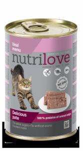 Nutrilove Cat Pyszny pasztet - danie z cielęciny 400g