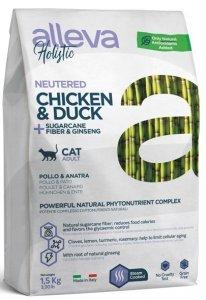 Alleva Holistic Cat Neutered Kura Kaczk 1,5kg