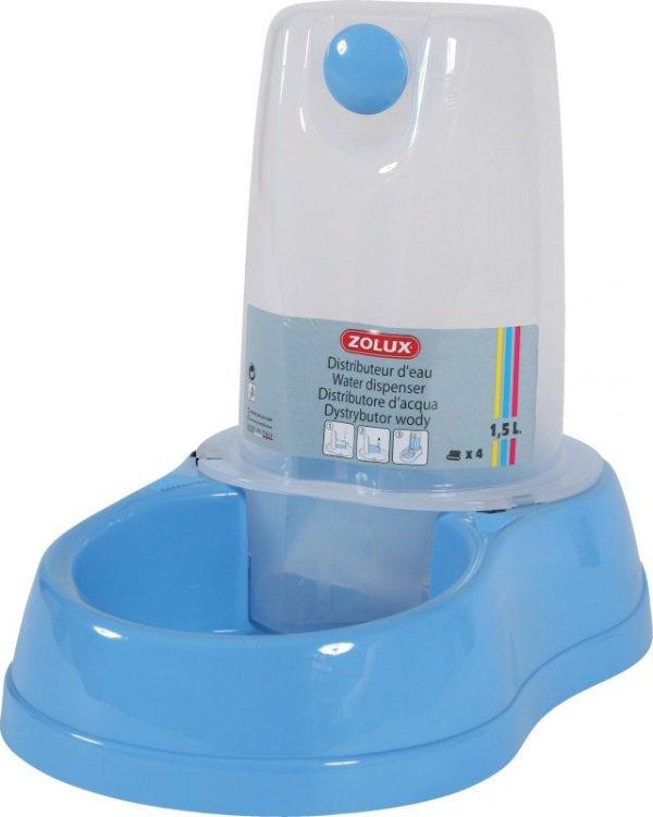 Zolux Dystrybutor do wody BREAK 1,5L kolor błękitny