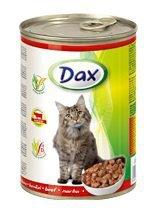 Dax Puszka dla kota 415g Kawałki z wołowiną