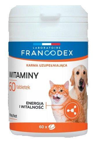 Francodex Witaminy dla psów i kotów 60 tabletek