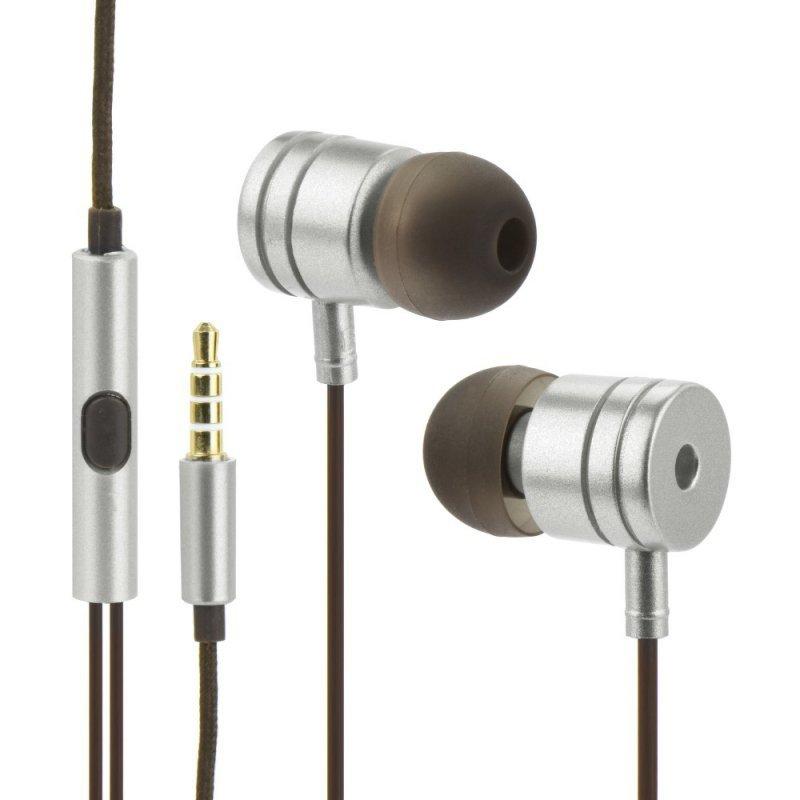 Zestaw HF / Słuchawki Stereo  box MI metal srebrne (Jack 3,5mm)