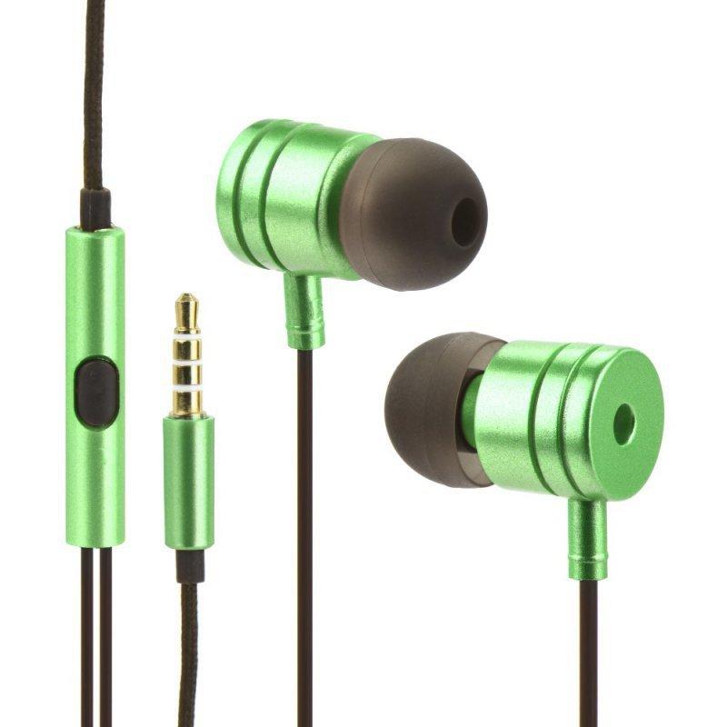 Zestaw HF / Słuchawki Stereo  box MI metal limonka (Jack 3,5mm)