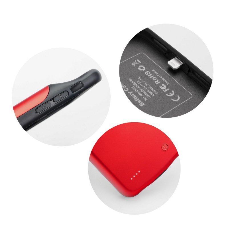Bateria zewnętrzna (POWER BANK) 3000 mAh z pokrowcem do Iphone X / Xs czerwony