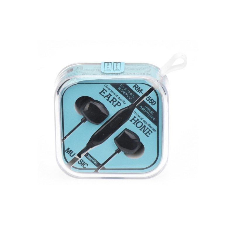REMAX zestaw słuchawkowy / słuchawki RM-550 czarny
