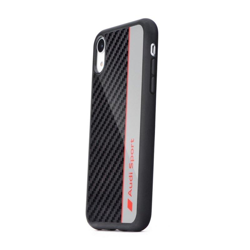 Oryginalne Etui AUDI Carbon Fibre Case AUS-TPUPCS10E-R8/D1-GY do Samsung S10e szare