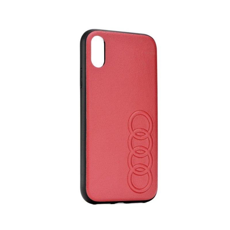 Oryginalne Etui AUDI Leather Case AU-TPUPCIP8P-TT/D1-RD do iPhone 8+ czerwone