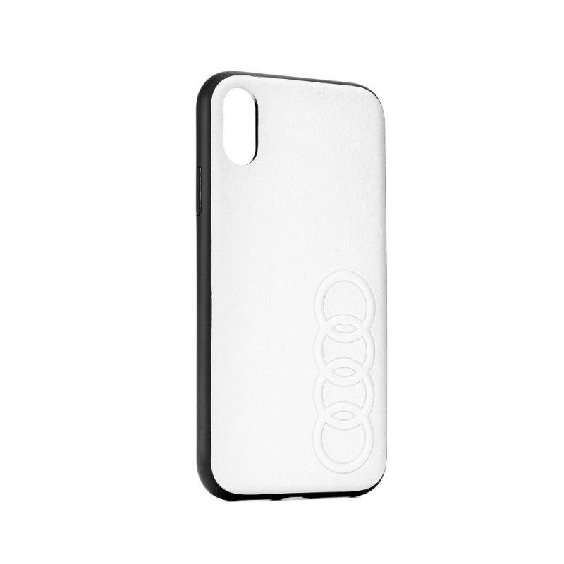 Oryginalne Etui AUDI Leather Case AU-TPUPCIP8P-TT/D1-WE do iPhone 8+ białe